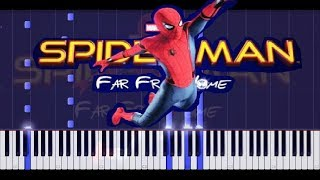 SPIDER-MAN: FAR FROM HOME TRAILER MUSIC on piano