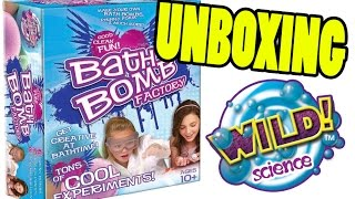 Bath Bomb Factory Toy Kit Unboxing! Wild Science Fizzing Bath Bomb Factory Box Contents