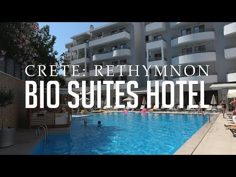 Bio Suites Hotel: Rethymnon, Crete | Tour | Room | Pool | Beach | Play Area