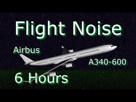 Flight Noise Sound of  Jet Interior Cabin with Passengers Sleeping  on Airbus