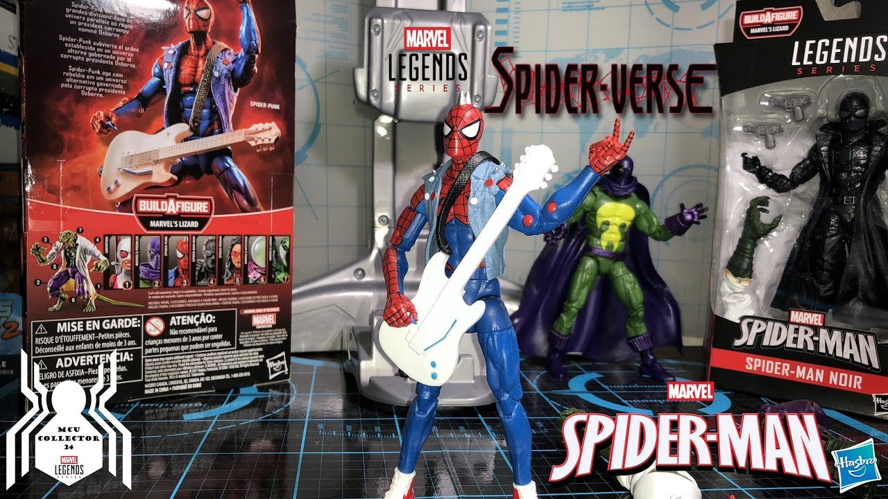 MARVEL LEGENDS SPIDER-MAN SERIES SPIDER-PUNK BUILD-A-FIGURE LIZARD HASBRO