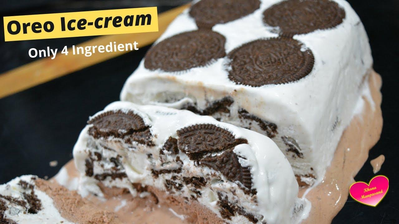 Oreo Ice-cream/1/2 कप क्रीम से बनायें 1/2लीटर Oreo ice-cream/Ice-cream recipe/chocolate Ice-cream