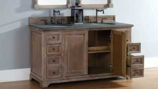 """New Providence 60"""" Double James Martin Bathroom Vanities In Solid Wood From Homethangs.com"""