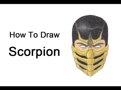 How To Draw Scorpion From Mortal Kombat Youtube