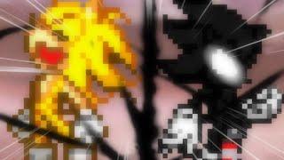 Dark Sonic Vs Fleetway Super Sonic Remake