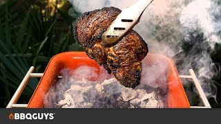 Ribeye Steak Cooked Directly on Charcoal, Caveman-style Recipe | BBQGuys