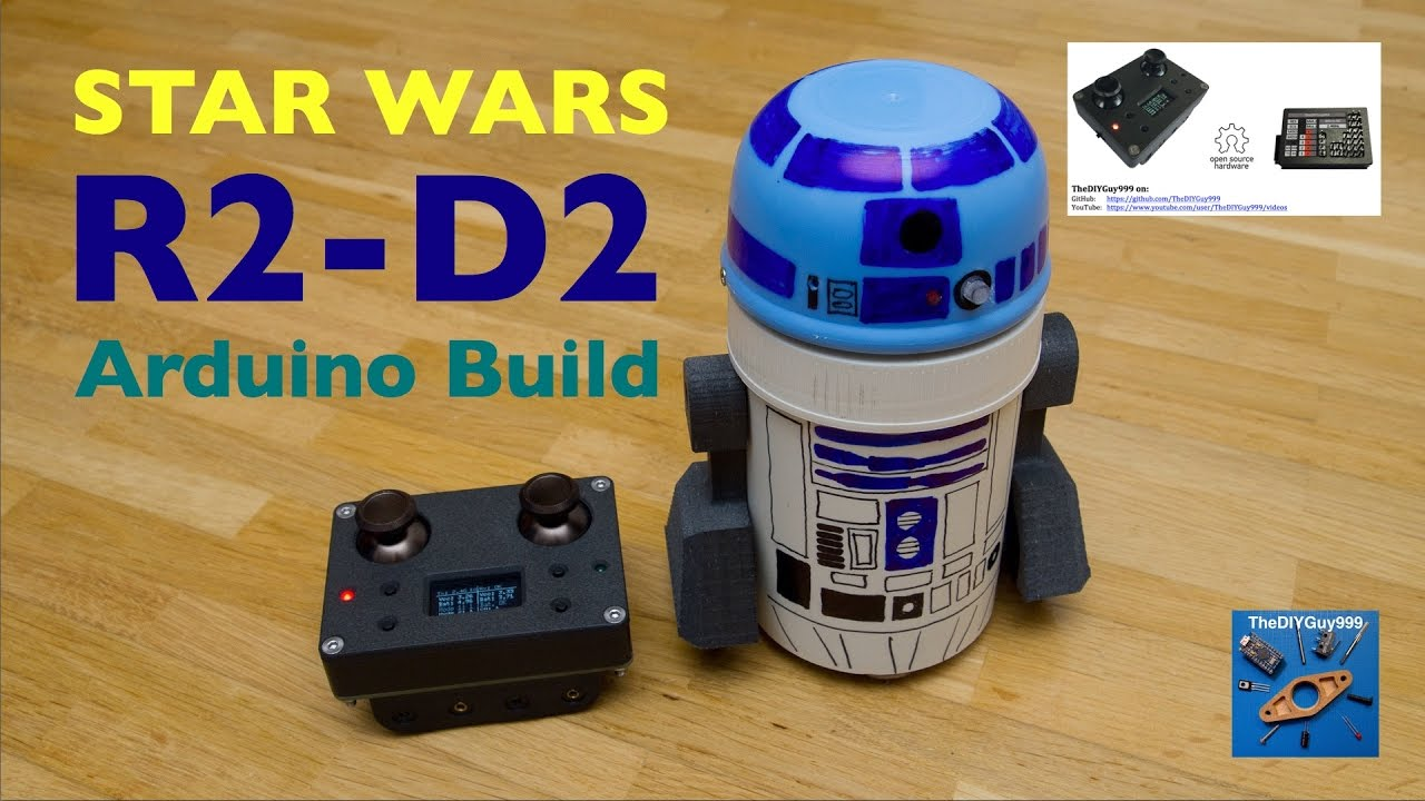 Star wars r d robot build with arduino quot micro rc