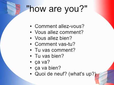 Learn French: greetings - YouTube