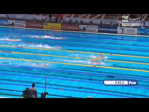 Sun Yang wins 1500m Final Freestyle - World Championship - Barcelona 2013