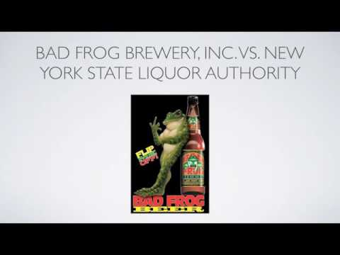 Bad Frog Brewery, Inc. vs. New Your State Liquor Authority