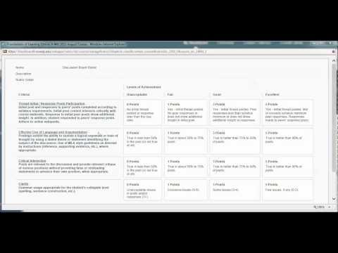 GSU1107 Discussion Board Rubric