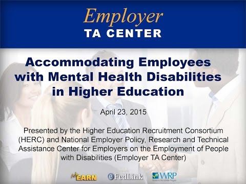 Accommodating Employees with Mental Health Disabilities in Higher Education