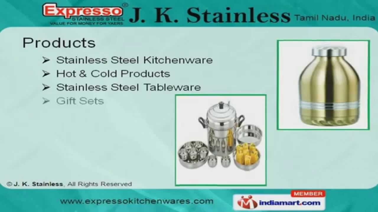 Gift Sets by J. K. Stainless, Chennai - YouTube