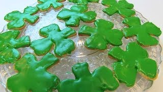 Betty's Shamrock Shortbread Cookies For St.  Patrick's Day