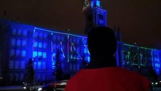 Лазерное шоу в Екатеринбурге 01.01.2017
