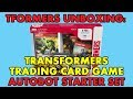 TFormers Unboxes: Transformers Trading Card Game Autobot Starter Set