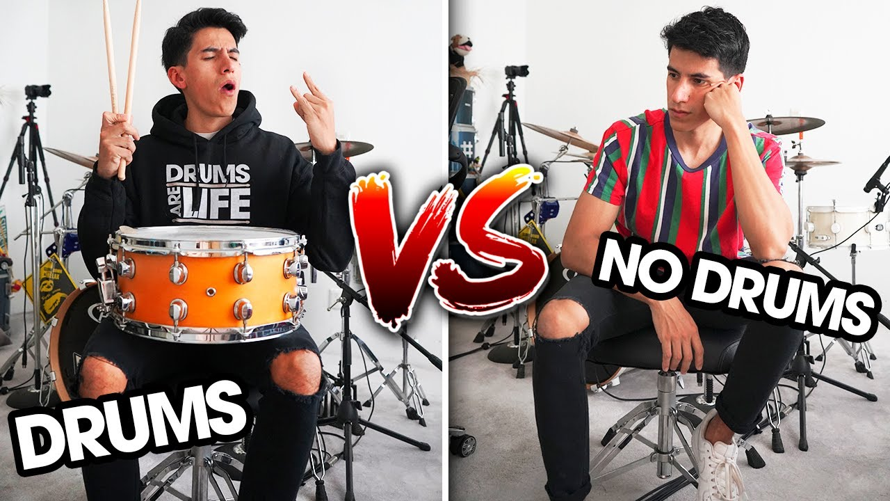How music sounds WITH vs WITHOUT drums?