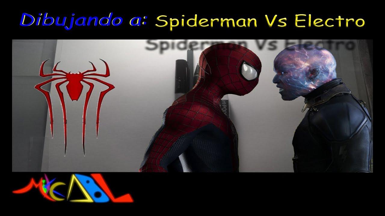 Dibujando a Spiderman Vs Electro  YouTube