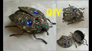 Beetle box made of scrap materials