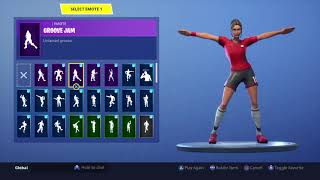 FORTNITE *POISED PLAYMAKER* SKIN SHOWCASE (ALL COUNTRIES, BACKBLINGS, EMOTES)