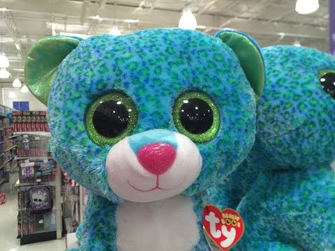 Ty Beanie Boos Babies Collection Leona Blue Leopard Plush Toys Dolls Music Songs Videos
