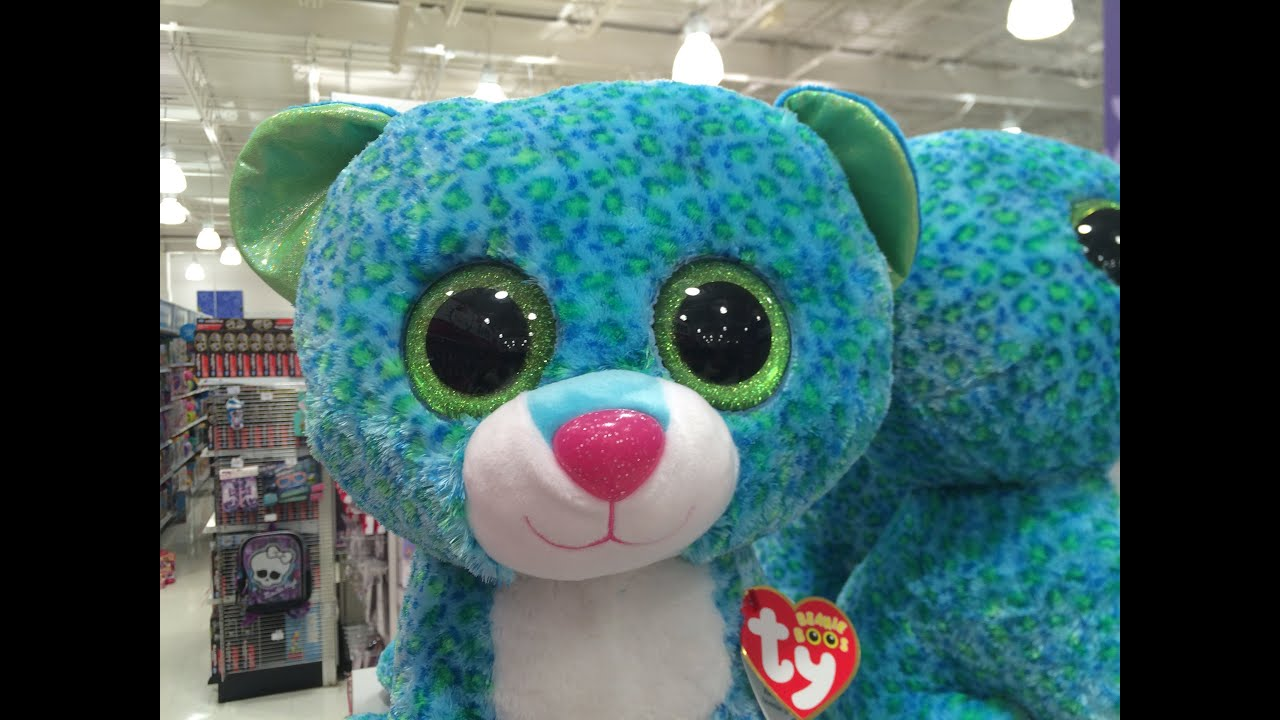 82a02008c33 Ty Beanie Boos Babies Collection Leona Blue Leopard Plush Toys Dolls Music  Songs Videos