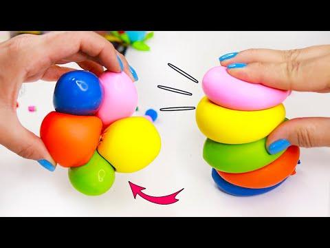 DIY Липкие СКВИШИ за 5 минут!  Антистресс игрушка своими руками ЛЕГКО! DIY fidget toys