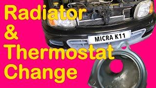 Nissan Micra K11 Radiator and Thermostat Change