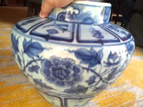 Antique Ancient Chinese vase very old one (flower designs).