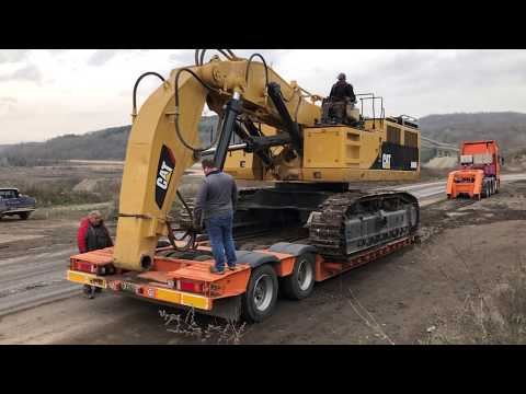 Loading And Transporting The Cat 5090B Shovel Excavator - Sotiriadis/Labrianidis Mining
