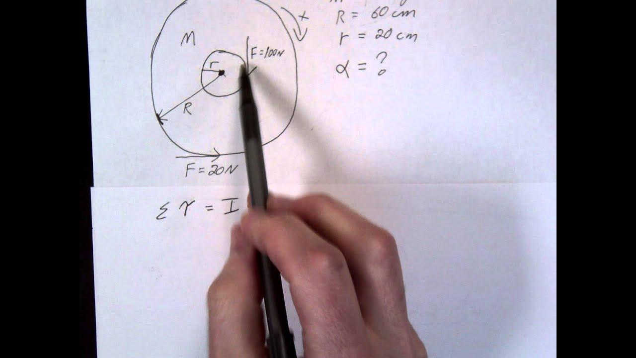 Torque   Inertia X Angular Acceleration Example