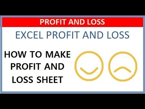 How to Make Profit and Loss Statement in Excel - YouTube