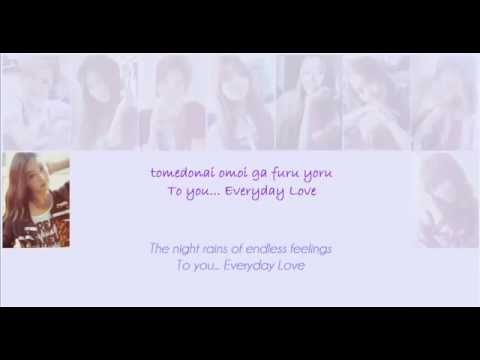 ???? SNSD-Everyday Love lyrics mp3