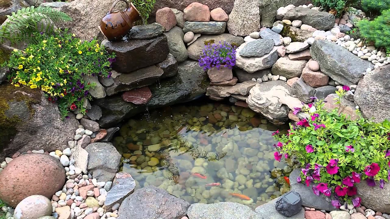 Homemade garden pond from old tire sodo baseinas youtube for Making a small pond
