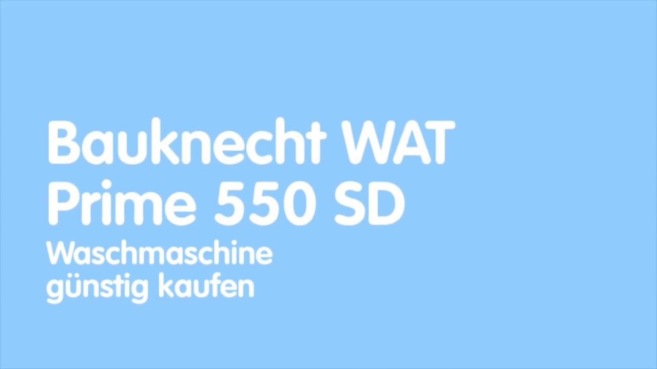 bauknecht wat prime 550 sd waschmaschine youtube. Black Bedroom Furniture Sets. Home Design Ideas
