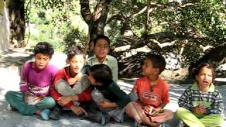 Local Haidakhan Indian Kids Sing some songs  in BABAJI Ashram India