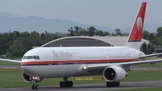 Air Italy Boeing 767 landing at Graz Airport | EI-FMR