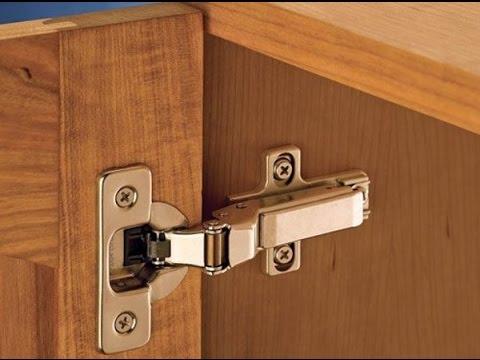 Como colocar bisagras cazoletas parte ii youtube - Tipos de bisagras para puertas ...