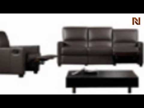 Bella Italia Full Italian Leather 3 Piece Reclining Sofa Set VGBI641 45