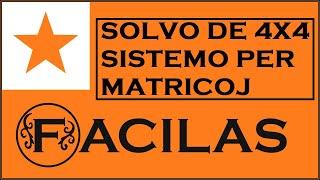 SOLVO DE SISTEMO 4X4 PER MATRICOJ (ESPERANTO)