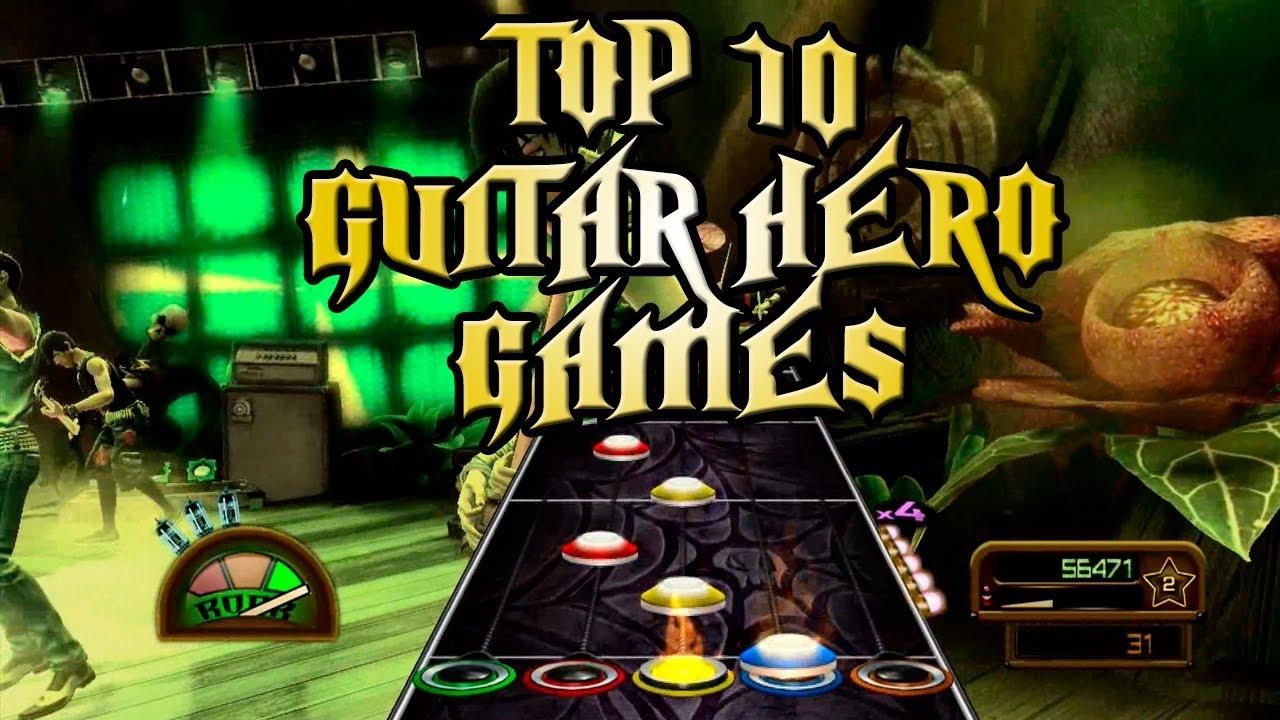 Top 10 Guitar Hero Games Youtube
