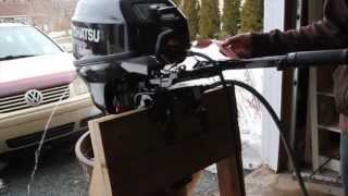 Tohatsu 20hp outboard first time start