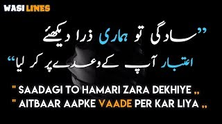 Sadgi to Hamari Zara Dekhiye Full Urdu Lyrics | Nusrat Fateh Ali Khan | qwali | WasiLines