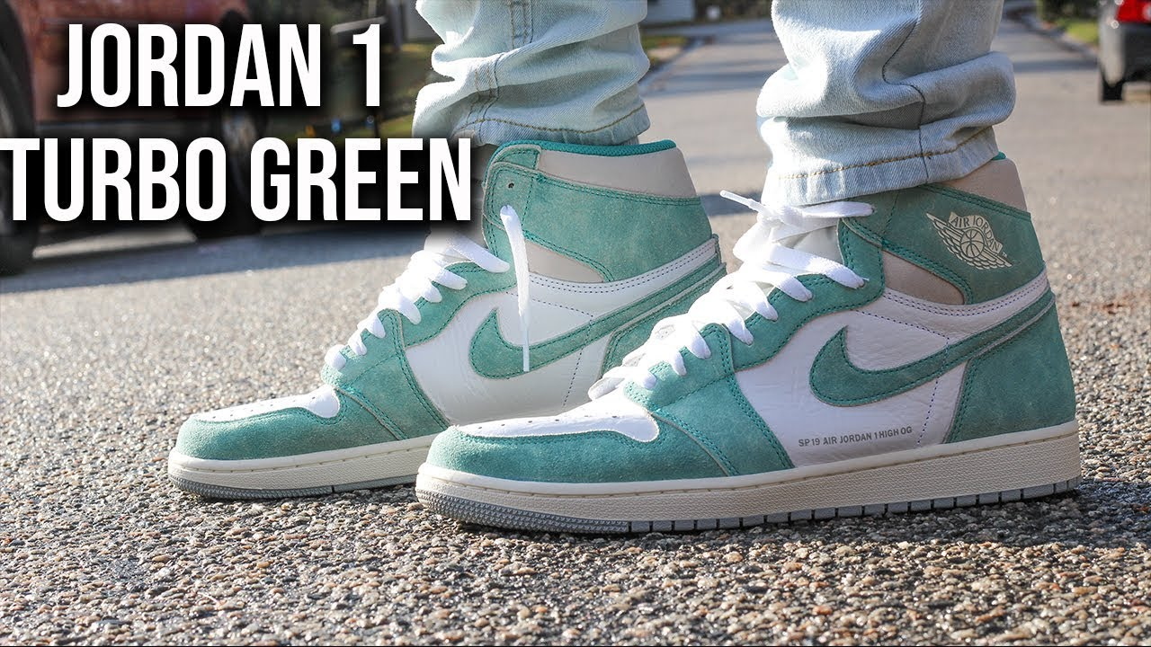 914f0fc4a29 AIR JORDAN 1 TURBO GREEN REVIEW AND ON FOOT - YouTube