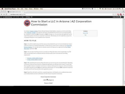 How to Start a LLC in Arizona | AZ Corporation Commission