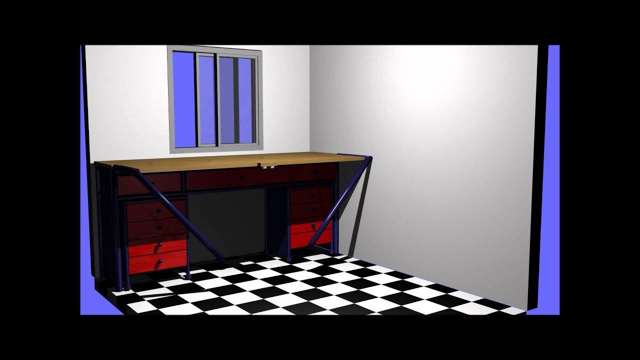Projeto da Bancada para o quarto/oficina/escritorio   #8B100D 1440x1080