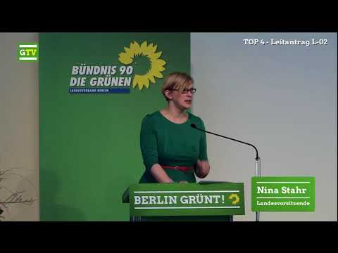 """Nina Stahr spricht zum Leitantrag """"Berliner KiTa: Unsere Großprojekte sind die Kleinen"""""""
