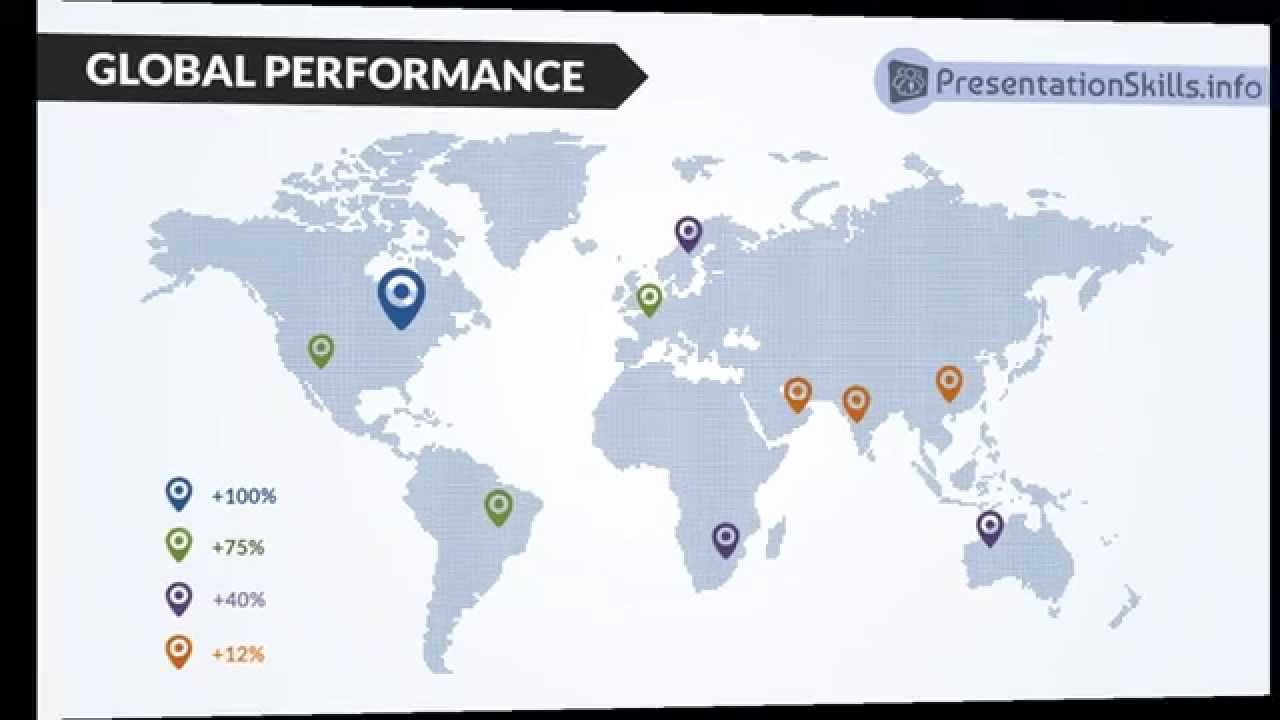 free powerpoint template - charts using maps - youtube, Modern powerpoint
