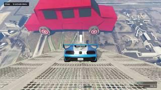 قراند 5 : قفزة من فوق اضخم سيارة اي سيارة تتوقع تجيبها ؟؟ المفاجأة The Biggest Jump in GTA 5