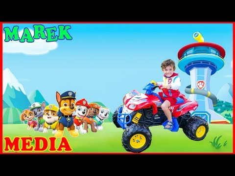 Marek Jr Unboxing & Riding Paw Patrol Power Wheel | Pretend Play Fun